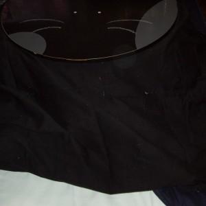 黒いカバーは猫毛が目立つ